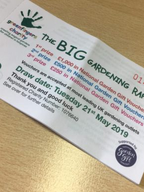 Greenfingers Charity announce Big Gardening Raffle with National Garden Gift Vouchers