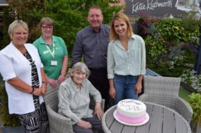 Leeds nonagenarian is treated like a queen at a Bradford Garden Centre