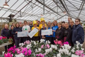Perrywood presents cheques for over £14,000 to centre's chosen charities