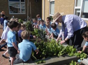 Poundbury Gardens sows seeds for school garden competition success