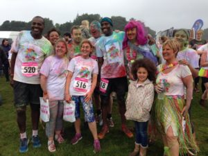 Rachel Smith (third from left) with Deco-Pak team at the colour run