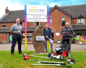 Cobra gives back to community by donating lawncare to local charity, Rainbows