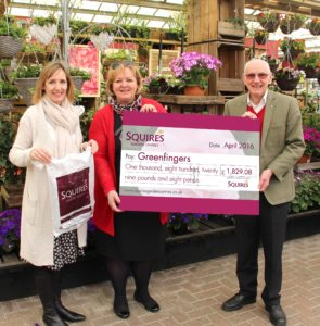 Squire's Carrier Bag Donation To Greenfingers - Sarah Squire, Linda Petrons & Colin Squire (2)