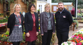All smiles as Squire's donates plants to White Lodge Centre