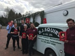 Squire's staff donate Easter eggs to Eagle Radio Appeal
