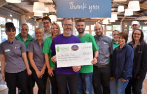 Garden centre staff smash their target for mental health charity